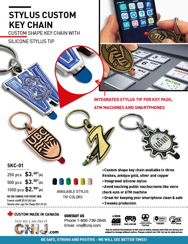 Stylus Custom Key Chain