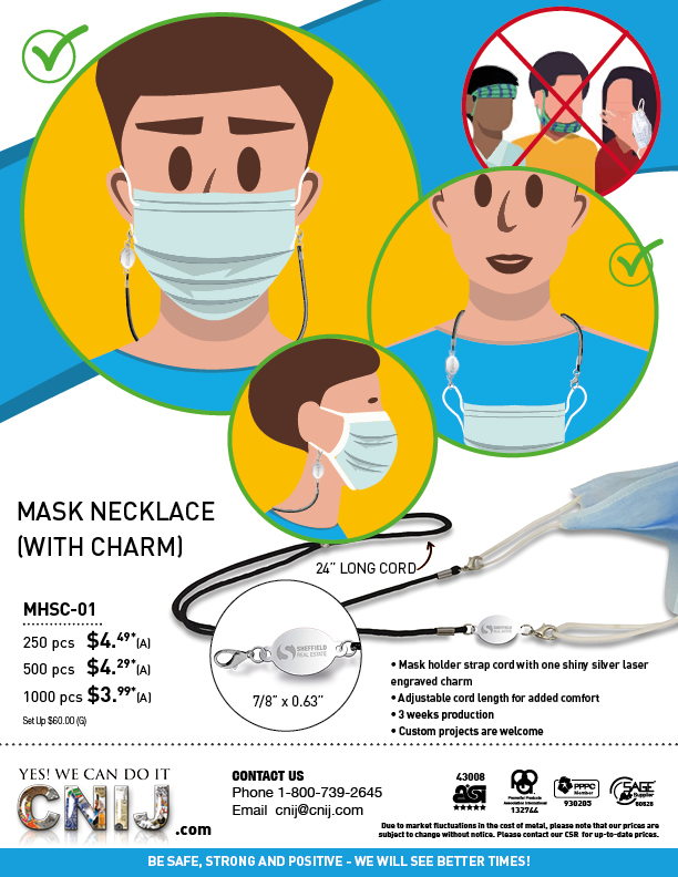 MASK NECKLACE (WITH CHARM)